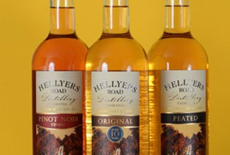 Four Bottlings From Hellyers Road Distillery