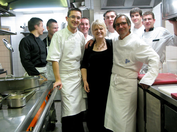 Olivier and Martine with chefs