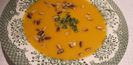 Roasted butternut squash velouté