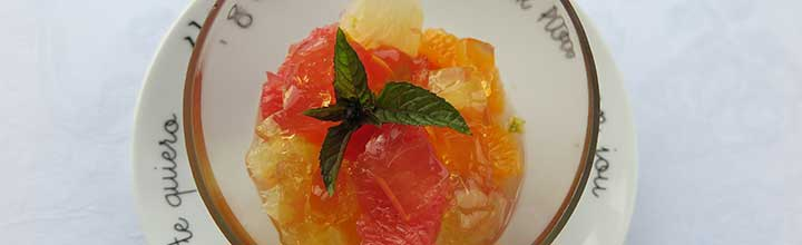 Malt-Tea citrus fruit salad