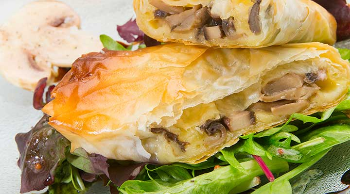 comte and mushrooms parcel