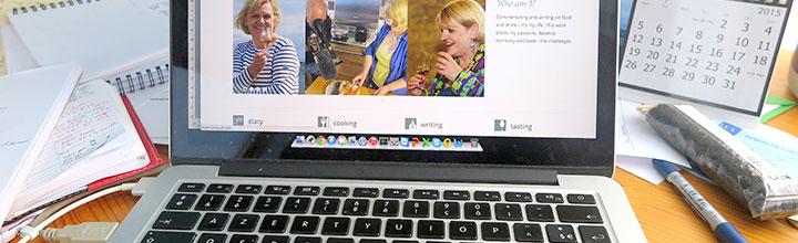 Martine's laptop keyboard