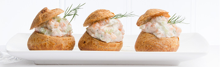 Salmon Mousse Profiteroles