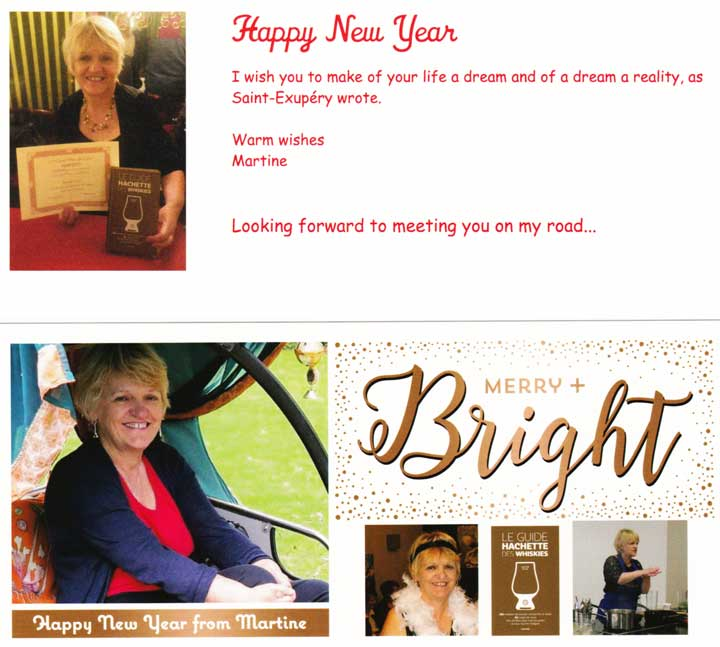 Martine with her book & Christams Wishes